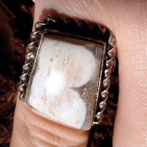 Jewelry - Landscape Jasper + Sterling Silver Ring 9